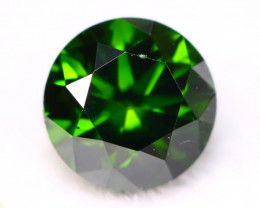 0.44Ct VS Natural Round Brilliant Cut Vivid Green Diamond  A1932