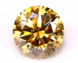 0.51Ct Natural Untreated Fancy Champagne Color Diamond A1933