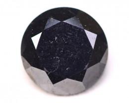 11.39Ct Natural Round Brilliant Cut Carbonado Black Diamond A1934