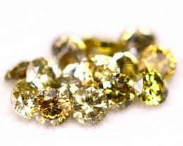 0.60Ct 15Pcs 2.20mm Natural Fancy Champagne  Round Cut Diamond A1910