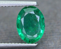 0.98 ct Zambian Emerald Vivid Green Color SKU-30