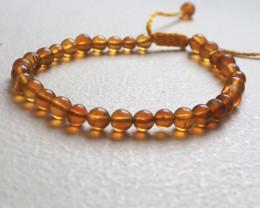 5mm Amber beads bracelet