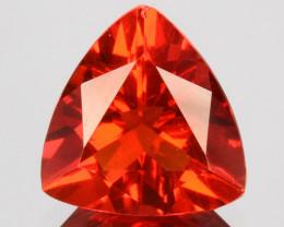 Reddish Orange 0.84 Cts Natural Mexican Fire Opal Trillion Cut