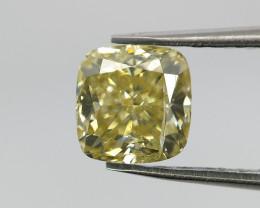 Yellow color diamond , Cushion cut diamond ,0.50 cts