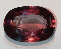 Zirkon, 2.465ct aus Burma, rot-violetter Stein mit bezaubernden Jardin!