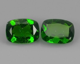 2.45 Cts MARVELOUS RARE CUSHION NATURAL TOP GREEN- CHROME DIOPSIDE