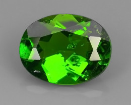 1.70 CTS NATURAL ULTRA RARE CHROME GREEN DIOPSIDE  RUSSIA