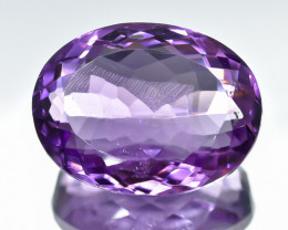 17.14 Crt Natural Amethyst Faceted Gemstone.( AB 27)