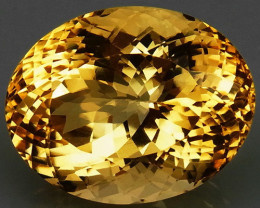 27.05  ct. 100% Natural Unheated Top Yellow Golden Citrine