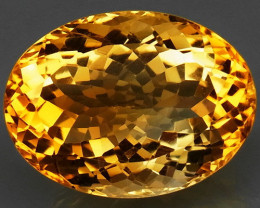 20.40 ct. 100% Natural Unheated Top Yellow Golden Citrine