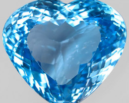 39.80 ct. 100 % Natural Swiss Blue Topaz Top Quality Gemstone Brazil