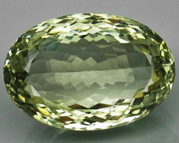 24.3 Ct. Natural Green Amethyst Brazil Oval Facet Attractive Unheated
