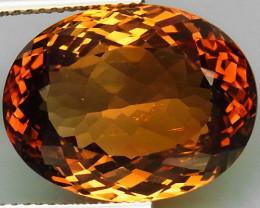 19.04  ct. 100% Natural Topaz Orangey Brown Brazil