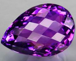 18.9Ct. Natural Rich Purple Amethyst Uruguay  Unheated
