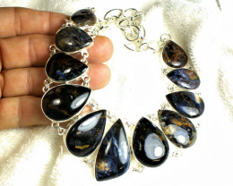 526.0 Tcw. Pietersite / Sterling Silver Necklace - 19inches