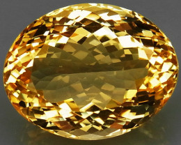 20.45 Ct. Natural Golden Yellow Citrine Brazil  Unheated
