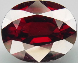 6.65 Ct. Natural Top Red Rhodolite Garnet Africa Unheated