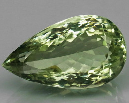 29.38Ct. Natural Green Amethyst Brazil Pear Shape Facet Attractive Unheated