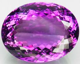 79.26Ct.  100 % Natural Rich Purple Amethyst Uruguay  Unheated