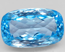 26.90 ct. 100% Natural Swiss Blue Topaz Top Quality Gemstone Brazil