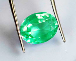 2.06 ct Top Of The Line Colombian Emerald Certified!
