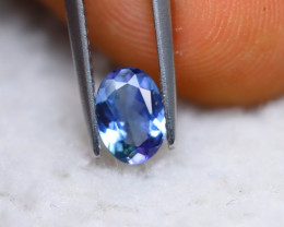 0.88Ct Natural Violet Blue Tanzanite Oval Cut Lot Z552