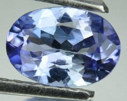Natural Purplish Blue Tanzanite 0.72 Cts Oval Cut Tanzania 7x5mm