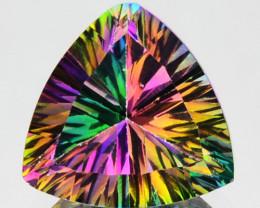 Natural Rainbow Mystic Topaz 0.98 Cts Trillion Cut 6mm Brazil