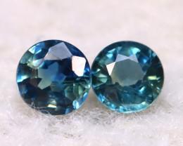 Blue Sapphire 0.66Ct 2Pcs Natural Blue Sapphire E2002