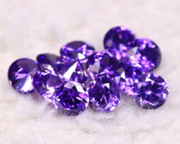 Amethyst 3.88Ct 12Pcs Natural Uruguay VVS Electric Purple Amethyst E2013