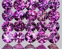 2.00 mm Round Machine Cut 20 pcs Unheated Lavender Pink Sapphire [VVS]
