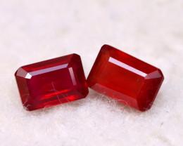 Ruby 1.65Ct 2Pcs Madagascar Blood Red Ruby E2022