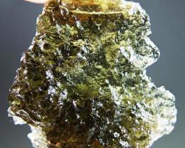 Shiny Moldavite with Brown color