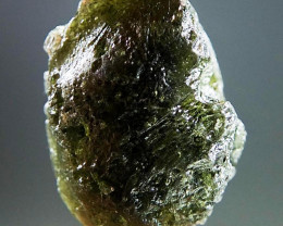 Raw Moldavite with open bubble