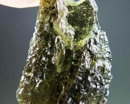 Shiny Natural Moldavite with open bubble