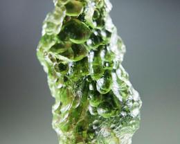 Certified Excellent Vibrant green Moldavite