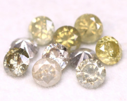 1.05Ct 10Pcs 3.00mm Natural Fancy Champagne Grey Round Cut Diamond B2008