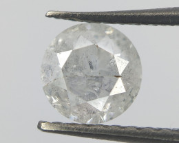 Antique White Round Diamond , 0.50 cts(half carat) , exceptional Round Bril