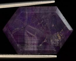 Rarest 16.80 ct Trapiche Pink Kashmir Sapphire ~ T