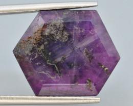 Rarest15.50 ct Trapiche Pink Kashmir Sapphire ~T