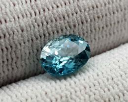 2CT BLUE ZIRCON BEST QUALITY GEMSTONE IIGC96