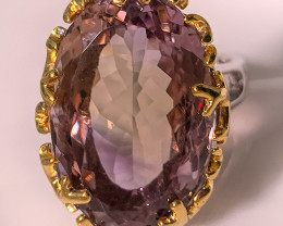 Superb Handmade Artisan Ring Ametrine Size 8.5 14kt Gold and Silver