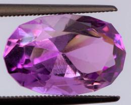 FREE SHIP! MASTER CUT! Unheated 6.60 CT Pinkish Purple Amethyst (Uruguay)