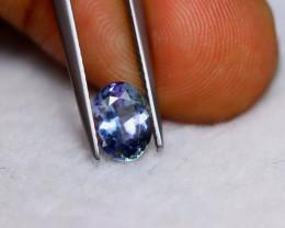 1.37ct Natural Violet Blue Tanzanite Oval Cut Lot V5924