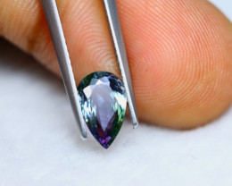 1.79ct Natural Violet Blue Tanzanite Pear Cut Lot V5925