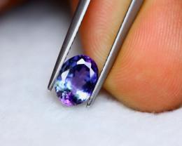 1.66ct Natural Violet Blue Tanzanite Oval Cut Lot V5926