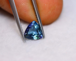 1.86ct Natural Violet Blue Tanzanite Trillion Cut Lot V5927