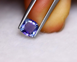 1.07ct Natural Violet Blue Tanzanite Cushion Cut Lot V5929