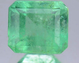 Natural Vivid Green Emerald Baguette Cut Colombia 0.54 Cts