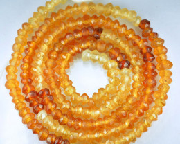 26.30 Cts Natural Cinnamon Hessonite Garnet Beads - 35 cm and 3.2 mm